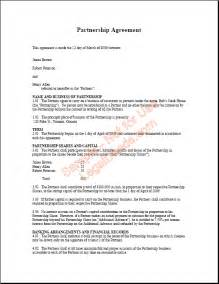 Boat Partnership Agreement Template by Partnership Agreement Template Non Compete Agreement