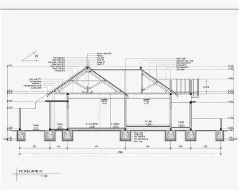 contoh gambar potongan rumah minimalis menggunakan autocad griya bagus