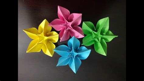 Directions For Paper Flowers - origami how to make lavender paper flower easy origami