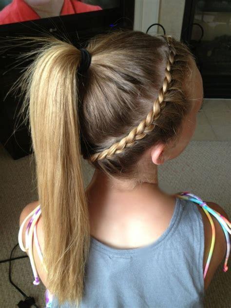 hair braid across back of head french braid around head into a pony tail hair