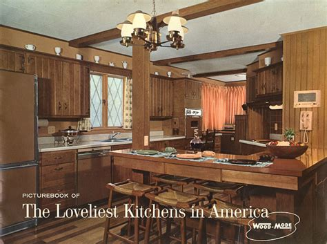 wood mode kitchens from 1961 slide show of 15 photos