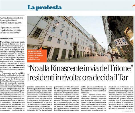 Tar Lazio Sede Di Roma by Rinascente In Via Tritone Il Quot No Quot Dei Residenti