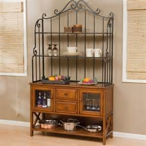 Bakers Rack With Cabinet Hton Wood Bakers Rack Heritage Oak Traditional