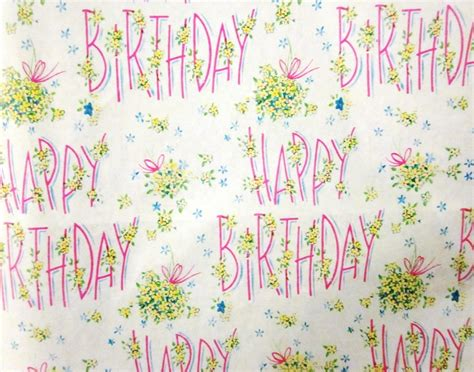 printable vintage wrapping paper vintage wrapping paper happy birthday with flowers one