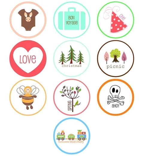 cupcake circle template image collections templates
