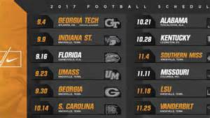 Ut Schedule Tennessee Football Announces 2017 Schedule Of