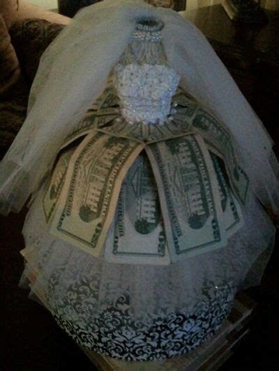 wedding money gift bridal shower gift of money presented creatively see more bridal shower gift ideas at www one