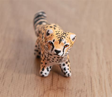 cheetah crafts for cheetah polymer clay figurine by lifedancecreations on