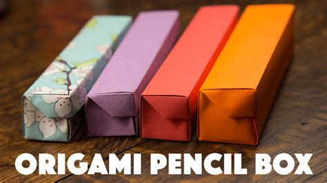 Origami Box Tutorial - origami pencil box tutorial 00