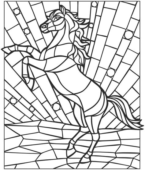 mosaic horse coloring pages pinterest coloring