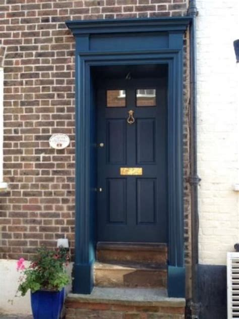 blue front door 27 chic dark front doors to try for your entry shelterness