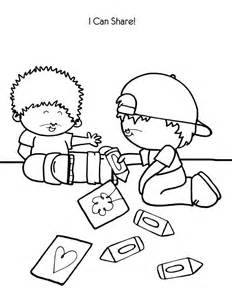 children sharing coloring pages coloring home
