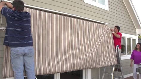 Retractable Motorized Awnings Replacing A Retractable Awning S Fabric Removal