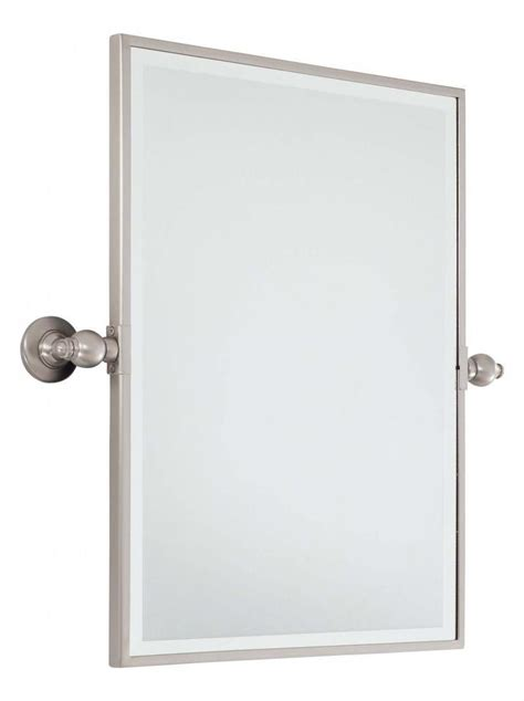 pivoting bathroom mirror minka lavery brushed nickel standard rectangle pivoting