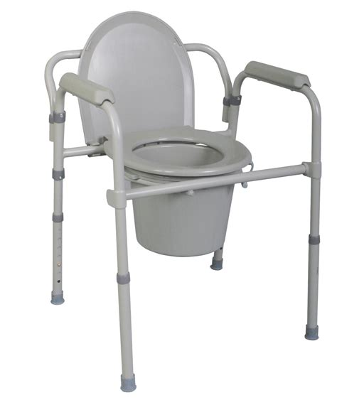 Folding Steel Commode by Folding Steel Commode Careway Wellness Center