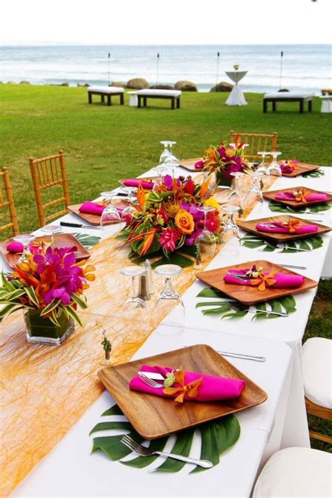 tropical theme for your summer wedding butterfly event styling