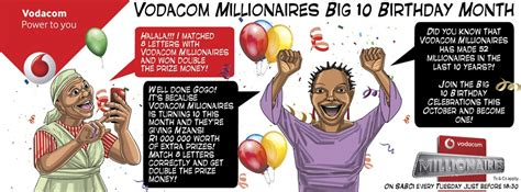 vodacom yebo millionaires prizes vodacom millionaires celebrates their 10th birthday