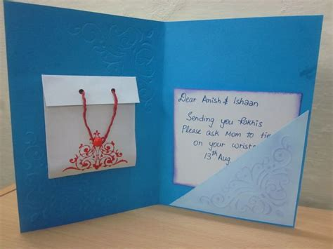 Handmade Greeting Cards For Raksha Bandhan - handmad raksha bandhan cards jpg 1 600 215 1 200 pixels card
