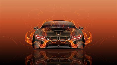 wallpaper abstract car bmw i8 front fire abstract car 2015 wallpapers el tony