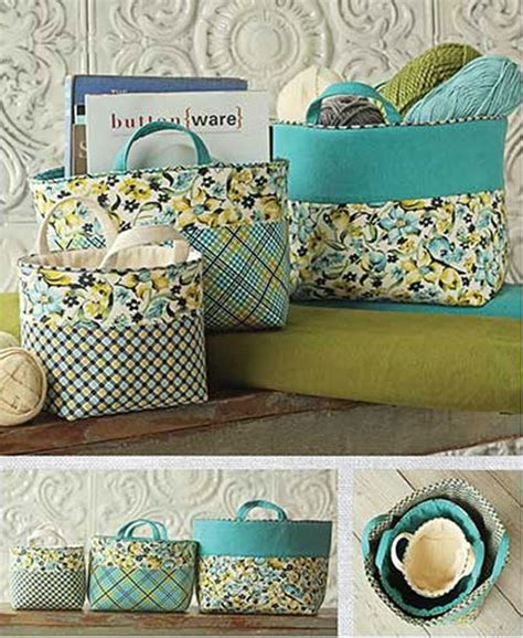 pattern fabric storage basket ducks n a row 16 fabulous fun diy fabric baskets for you