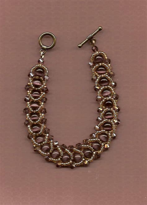 woven beaded bracelet swarovski woven beaded bracelet purple by nathalielanejewelry