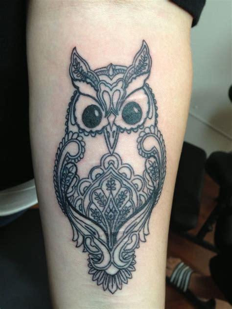 mehndi style owl tattoos mehndi style owl