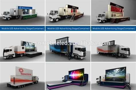 conduit mobile outdoor led stage truck led mobile stage truck for sale