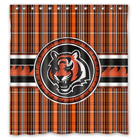 cincinnati bengals curtains bengals shower curtains cincinnati bengals shower curtain
