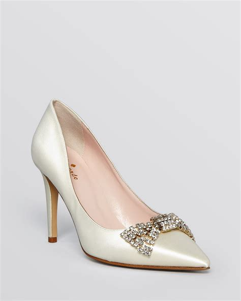 white pointed toe high heels kate spade new york pointed toe evening pumps pez high