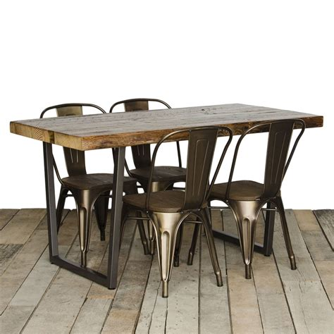 rustic metal and wood dining table rustic wood and metal dining table best ideas for wood and