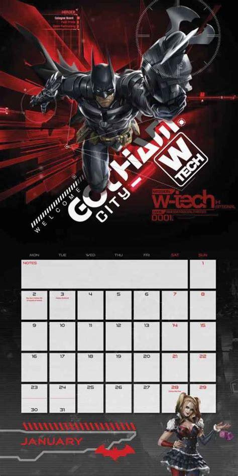 Batman Calendar Batman Arkham Calendar 2017 Version The