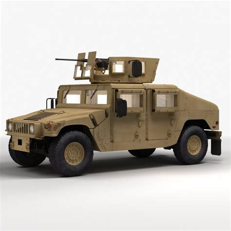 army humvee hmmwv military humvee 3d model cgstudio