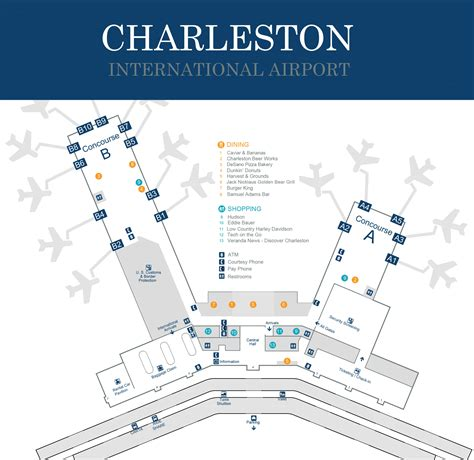international airport map charleston international airport terminal map