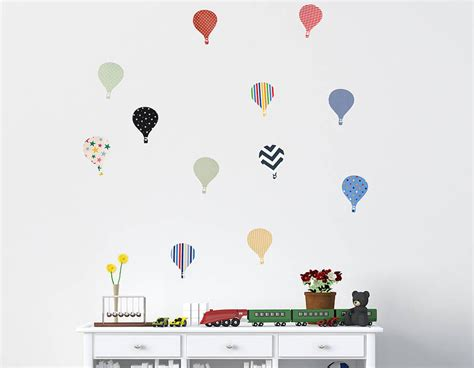 childrens wall stickers uk children s air balloon wall stickers contemporary
