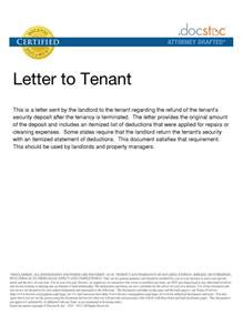 best photos of landlord security deposit demand letters