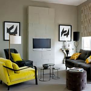 yellow black and white living room bzzzz black and yellow inside space design