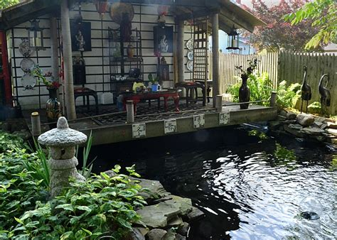 feel transported   world  backyard tea garden