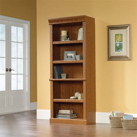 Sauder Oak Bookcase Sauder Orchard Library Bookcase Carolina Oak Finish Walmart
