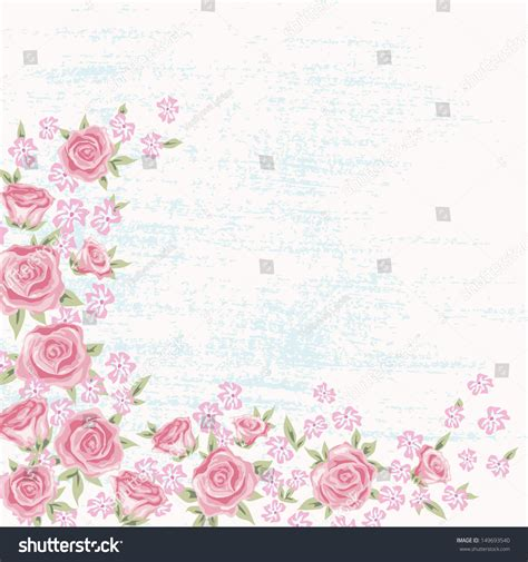Vector Backgrounds With Roses For Invitations vintage flower background beautiful invitation card stock