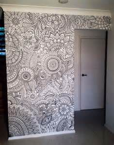 coloring wall murals diy cool collection of doodle inspired art decor for your home