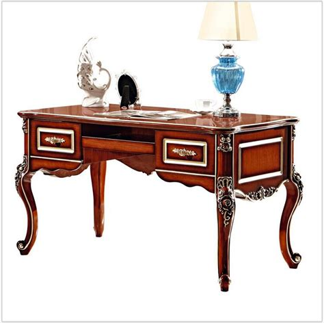 Classic Office Desk Baroque Style Luxury Executive Office Desk European Classic Wood Carving Writing Table