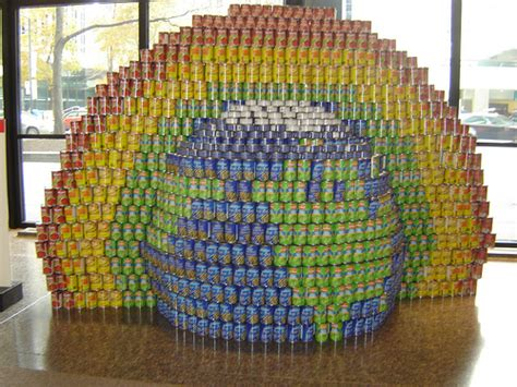 simple canstruction ideas globe rainbow canstruction 2008 canstruction is a