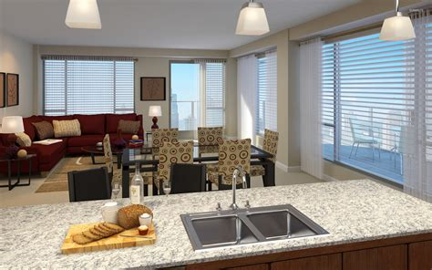 Living And Dining Room Open Space Open Space Living Room Dining Room And Kitchen Wallpaper