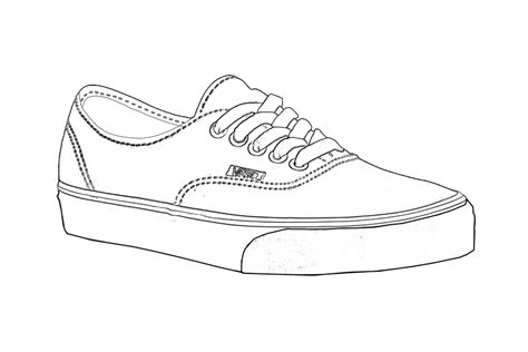 Coloring Pages Of Vans Shoes | vans shoes coloring pages
