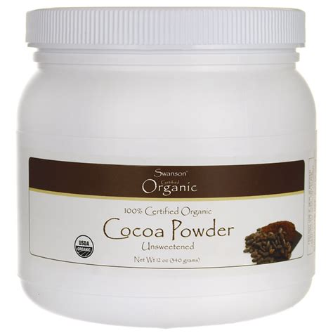 Houten Cocoa Powder 90gram organic cocoa powder unsweetened swanson health products