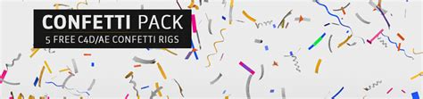 Free Confetti Pack 5 Rigs Animations For Ae And C4d The Pixel Lab After Effects Confetti Template