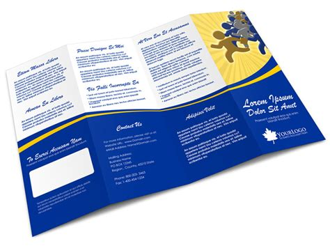 4 panel accordion brochure mock up cover actions premium