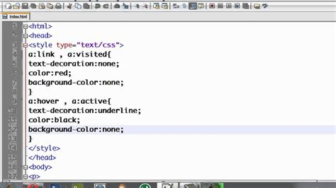 link color html css tutorial 11 changing link color when cursor