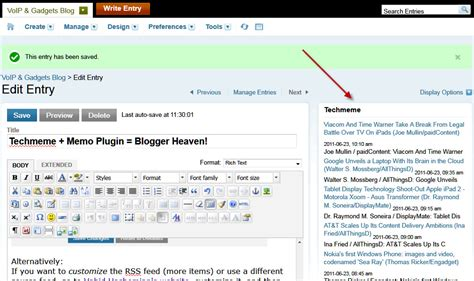 blogger plugin techmeme memo plugin blogger heaven