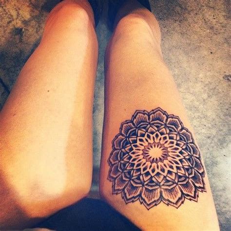 female tattoo designs on thigh alternatives on mandala